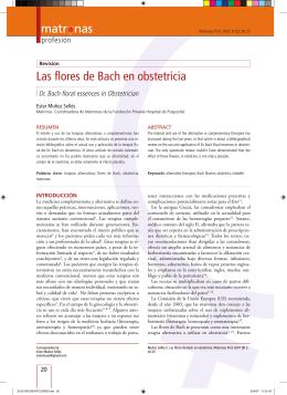 Las flores de Bach en obstetricia