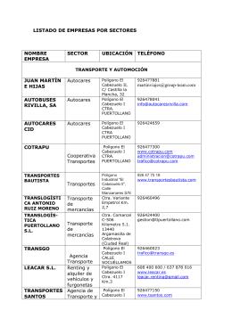 Empresas por sectores - Ayuntamiento de Argamasilla de Calatrava