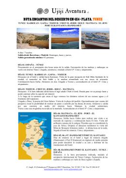 ruta encantos del desierto en 4x4 + playa. tunez