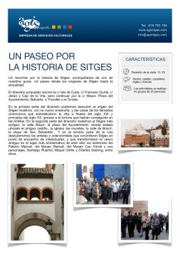 UN PASEO POR LA HISTORIA DE SITGES
