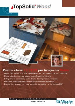 Poderosa solución CAD/CAM para trabajos con Madera