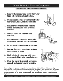 Nine Rules for Tractor Operators