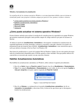 ¿Cómo puedo actualizar mi sistema operativo Windows? Habilitar