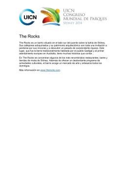 The Rocks - IUCN World Parks Congress