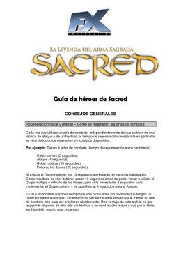 Guía de héroes de Sacred