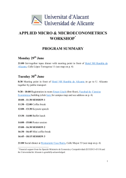 workshop on applied microeconomics & microeconometrics