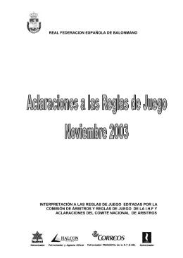 real federacion española de balonmano interpretación a las reglas