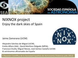 Presentación del proyecto NixNox en la SEA 2012
