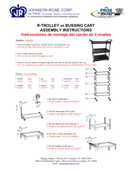 JOHNSON-ROSE CORP. R-TROLLEY or BUSSING CART