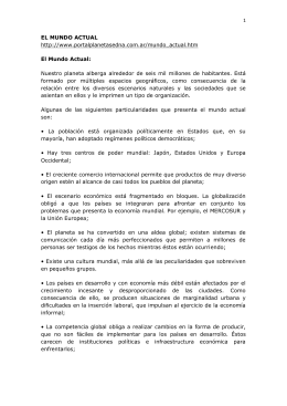 1 EL MUNDO ACTUAL http://www.portalplanetasedna.com.ar