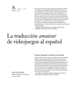 La traducción amateur de videojuegos al español