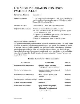 LOS ÁNGELES HABLARON CON UNOS PASTORES (A.1.4.3)