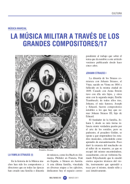 LA MÚSICA MILITAR A TRAVÉS DE LOS GRANDES
