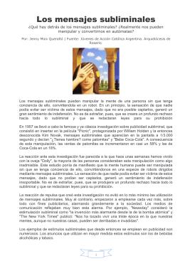 123- EDUCACION - Los mensajes subliminales