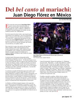 Del bel canto al mariachi: Juan Diego Flórez en México