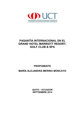 pasantía internacional en el grand hotel marriott resort, golf club & spa