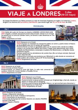 VIAJE A LONDRES 5 días ^ - Colegio Estudiantes Las Tablas