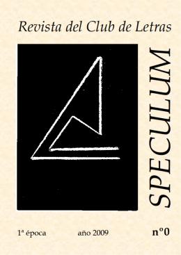 REVISTA SPECULUM Nº 0 CLUB DE LETRAS