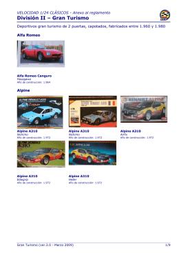 División II – Gran Turismo