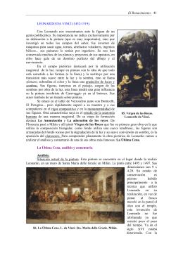 El Renacimiento. 41 LEONARDO DA VINCI (1452