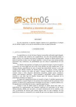 J.I. Royo Prieto: Poliedros y teoremas de papel