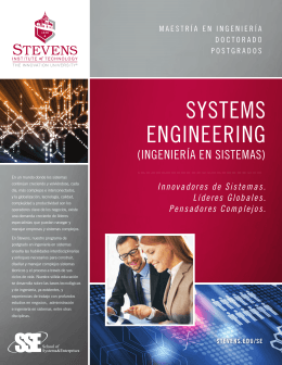 SYSTEMS ENGINEERING - Stevens Institute of Technology