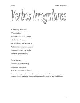 Verbos Irregulares II PDF - antoniohdezcaro