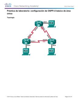 configuración de OSPFv3 básico de área única