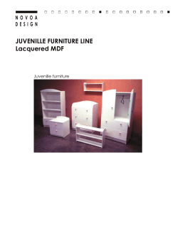 JUVENILLE FURNITURE LINE Lacquered MDF
