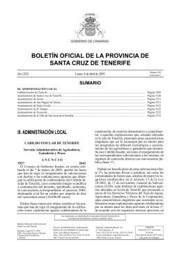 sumario - Boletín Oficial de la Provincia de Santa Cruz de Tenerife