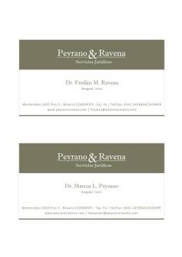 Tarjetas - estudio peyranoravena