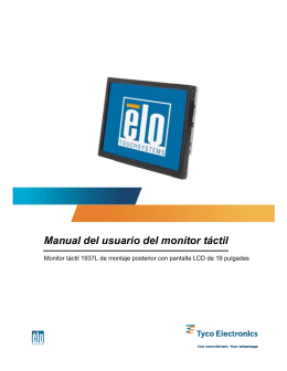 Manual del usuario del monitor táctil