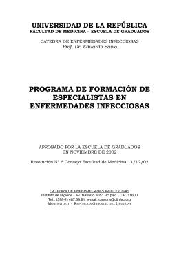 Enfermedades Infecciosas - Escuela de Graduados