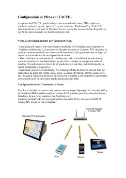 Configuración de PDAs en ITACTIL.