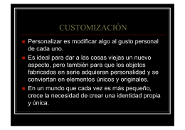 CUSTOMIZACIÓN