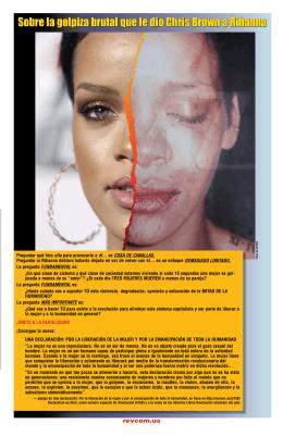 Sobre la golpiza brutal que le dio Chris Brown a Rihanna