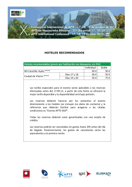 HOTELES RECOMENDADOS Hoteles recomendados