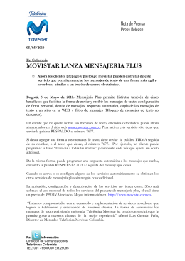 Telefónica Movistar 1200510 Comunicado Mensajería Plus _