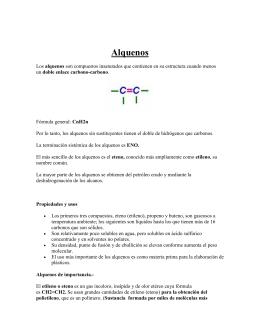 Alquenos - QUIMICAIIBCCLL