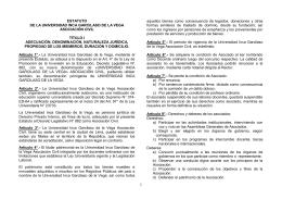 ESTATUTO DE LA UNIVERSIDAD INCA GARCILASO DE LA VEGA