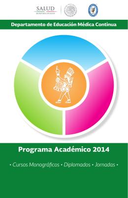 Programa Académico 2014 - Hospital Infantil de México Federico