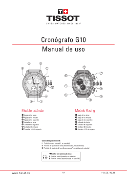 Cronógrafo G10 Manual de uso
