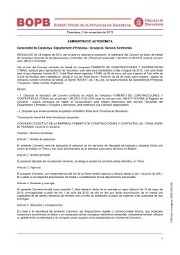 Divendres, 2 de novembre de 2012 ADMINISTRACIÓ