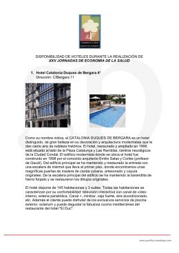 DISPONIBILIDAD DE HOTELES DURANTE LA REALIZACIÓN DE
