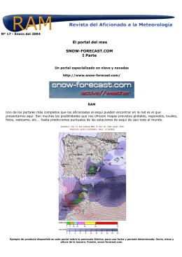 El portal del mes SNOW-FORECAST.COM I Parte