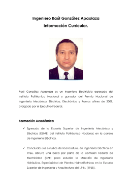Raúl González Apaolaza - CUDI
