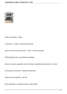 Casas/Duplex en Adeje - El Galeon Ref : F-AD5