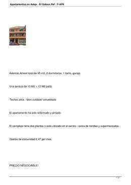 Apartamentos en Adeje - El Galeon Ref : F-AP9