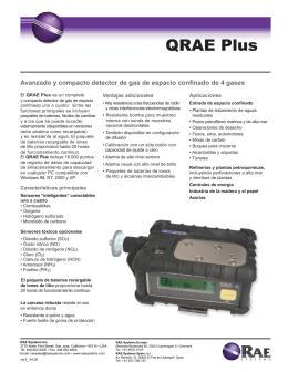 RAE Systems - QRAE Plus datasheet (Spanish)