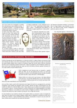 Boletín Nº 7/2015 Santuario Teresa de Los Andes Santuario Teresa